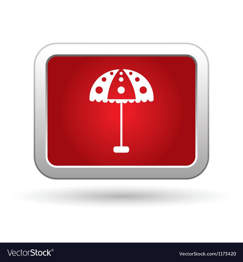 Beach umbrella icon vector | Price: 1 Credit (USD $1)