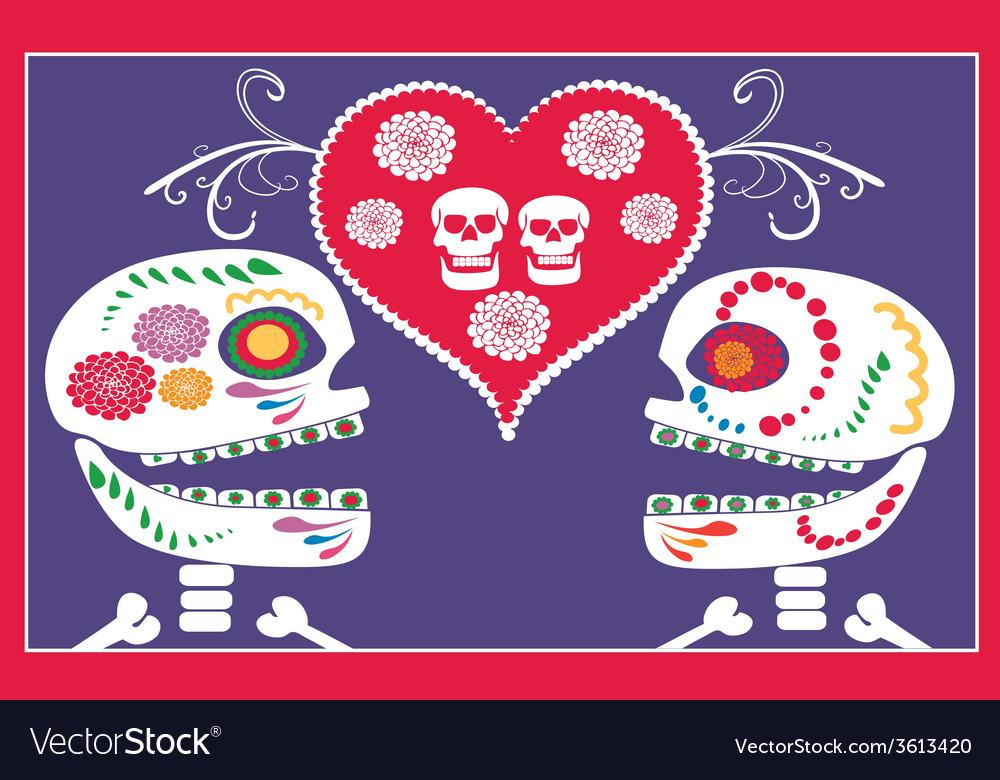 Mexican skulls vector | Price: 1 Credit (USD $1)