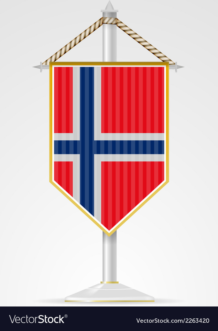 National symbols of european countries norway vector | Price: 1 Credit (USD $1)