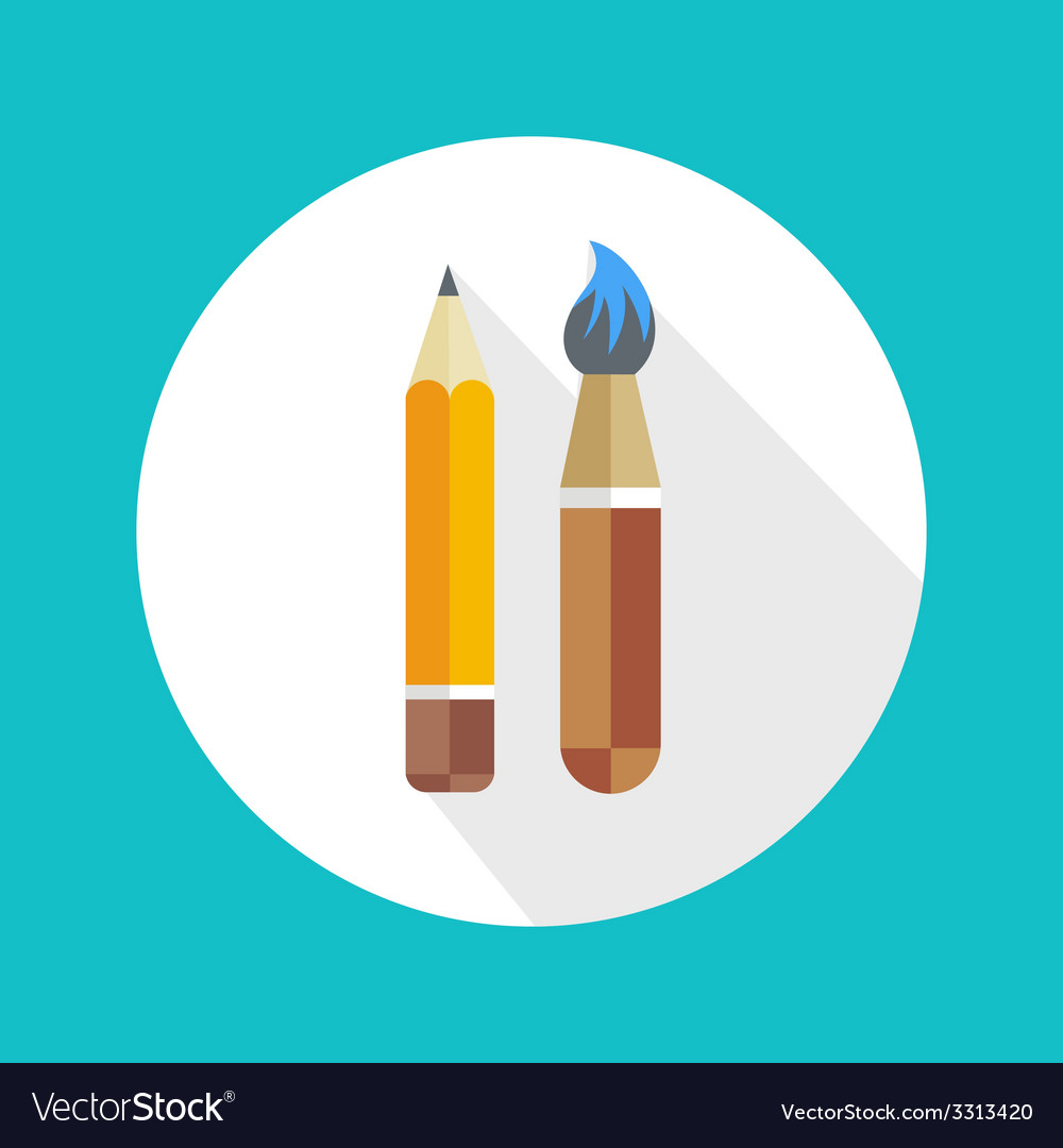 Pen and brush icon vector | Price: 1 Credit (USD $1)