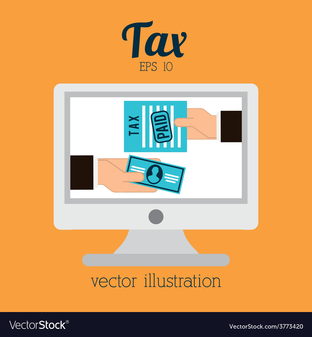 Tax icon vector