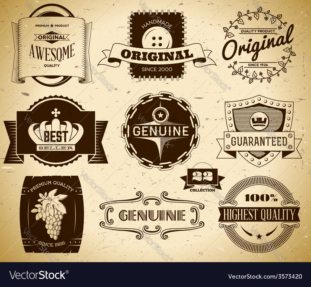 Vintage labels collection 22 vector | Price: 1 Credit (USD $1)