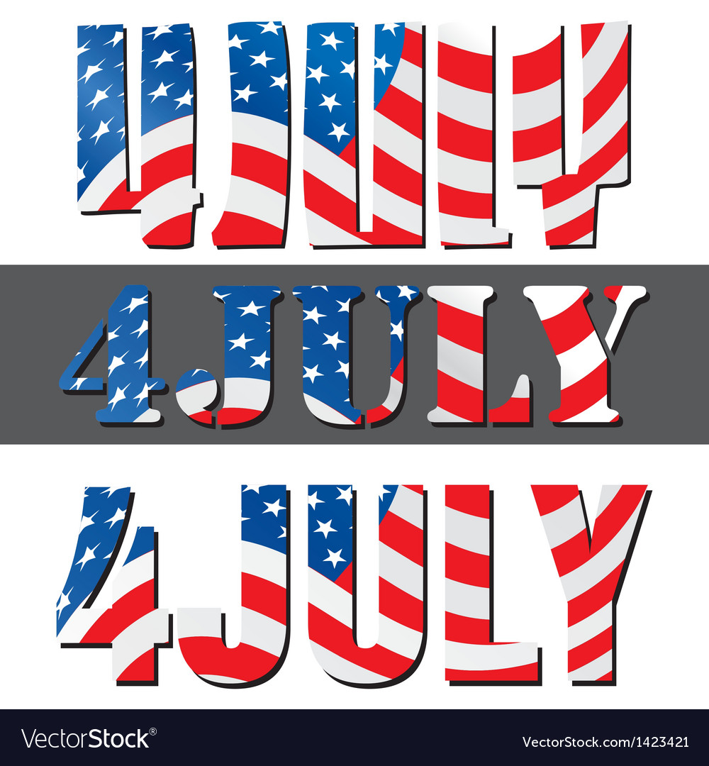 4th july american independence day vector | Price: 1 Credit (USD $1)