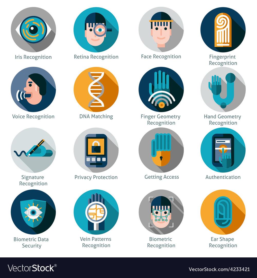 Biometric authentication icons vector | Price: 1 Credit (USD $1)