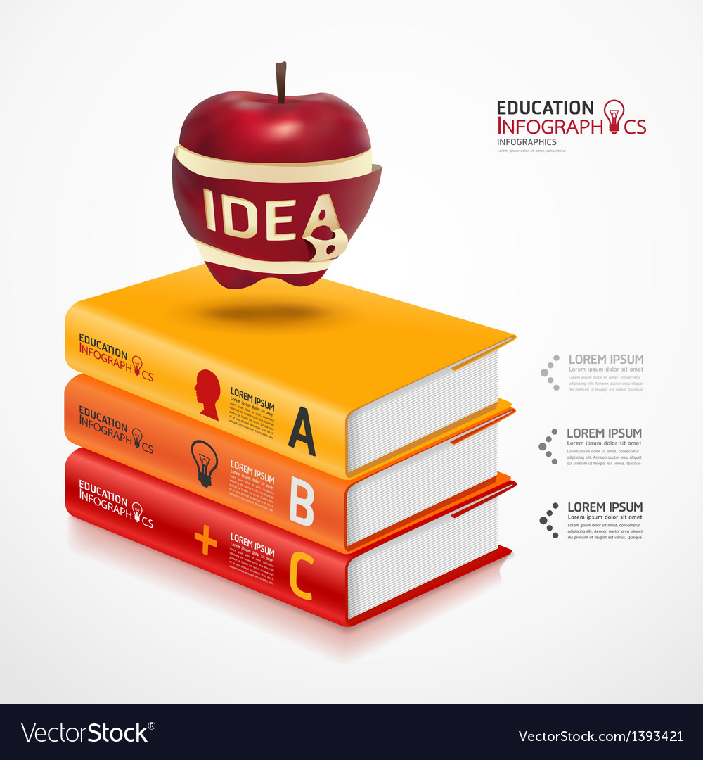 Books info graphic vector | Price: 1 Credit (USD $1)