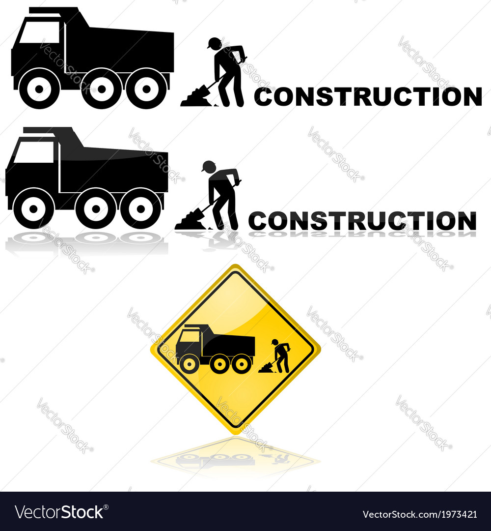 Construction sign vector | Price: 1 Credit (USD $1)