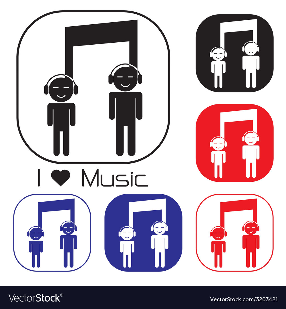 Creative music note sign icon vector | Price: 1 Credit (USD $1)