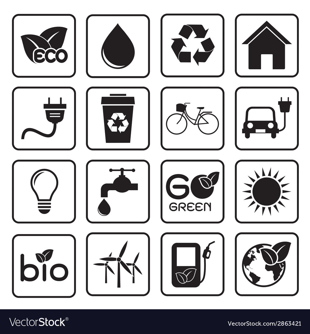 Ecology icon vector | Price: 1 Credit (USD $1)