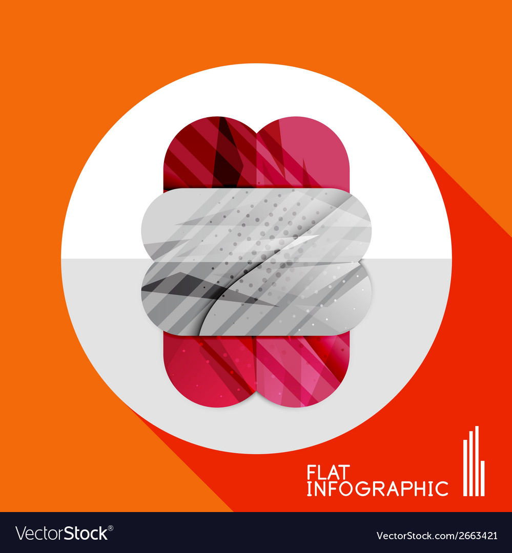 Geometric infographic in trendy flat style vector | Price: 1 Credit (USD $1)