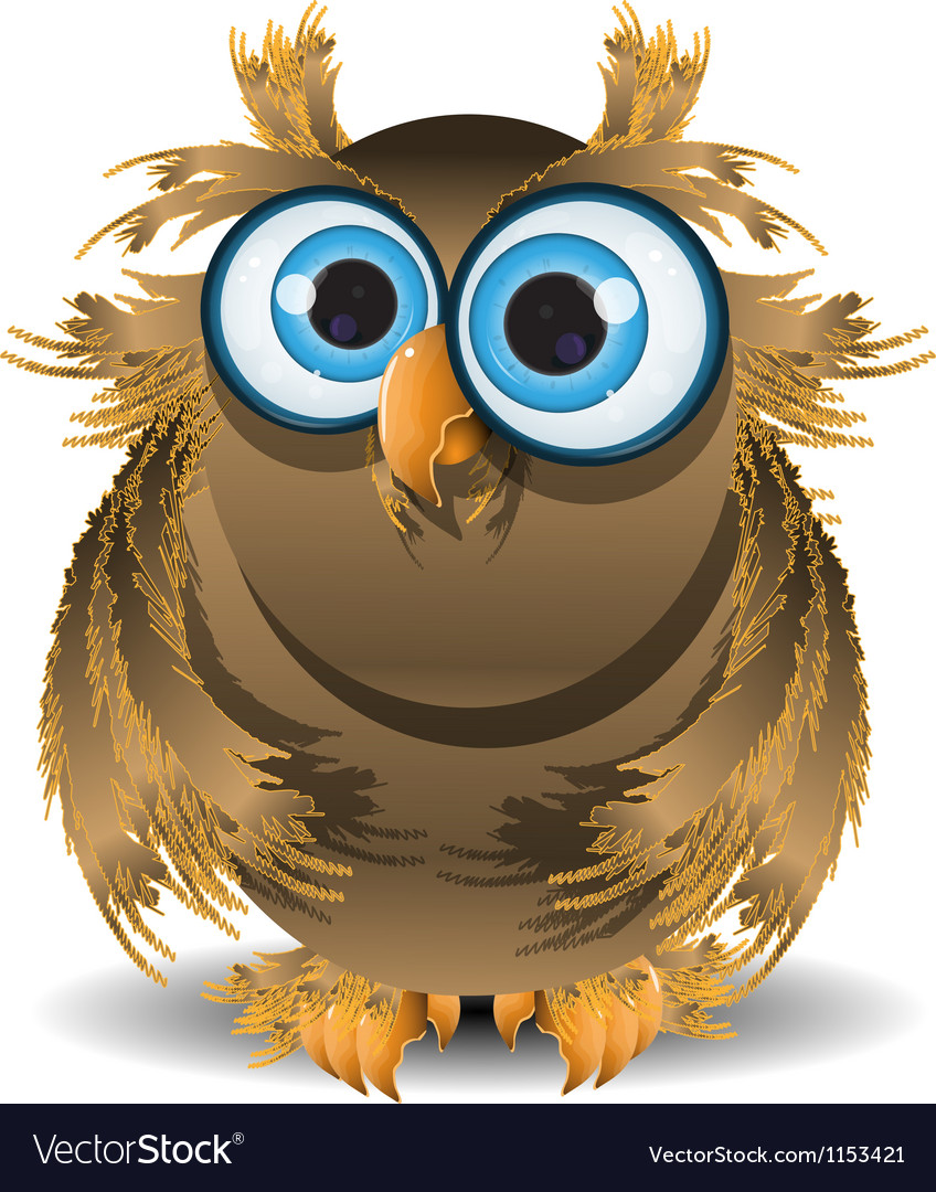 Goggle eyed wise owl vector | Price: 1 Credit (USD $1)