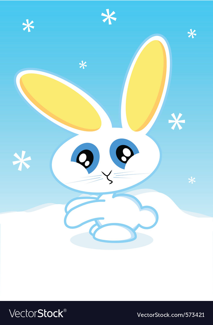 Holiday bunny vector | Price: 1 Credit (USD $1)