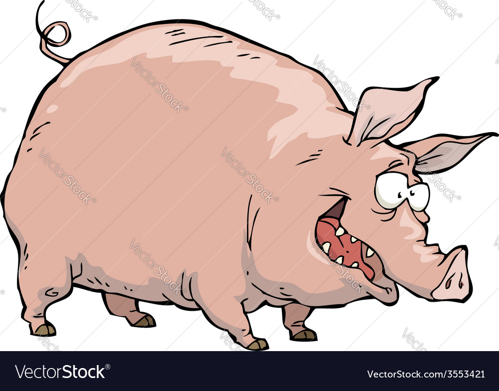 Merry pig vector | Price: 1 Credit (USD $1)