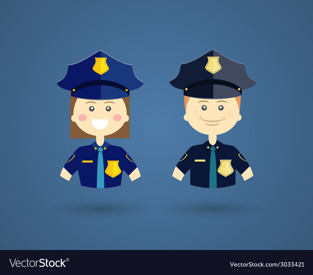 Professions - police officers vector | Price: 1 Credit (USD $1)