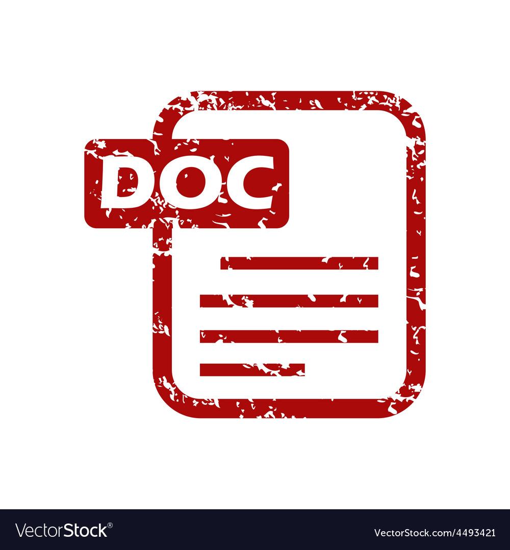 Red grunge doc logo vector | Price: 1 Credit (USD $1)