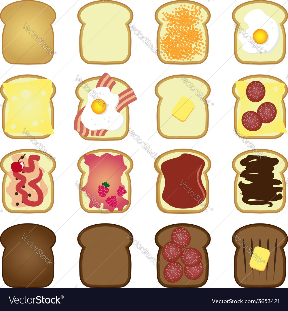 Set of toasts vector | Price: 1 Credit (USD $1)