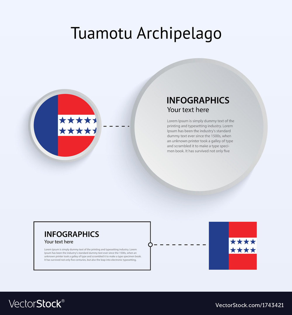 Tuamotu archipelago country set of banners vector | Price: 1 Credit (USD $1)