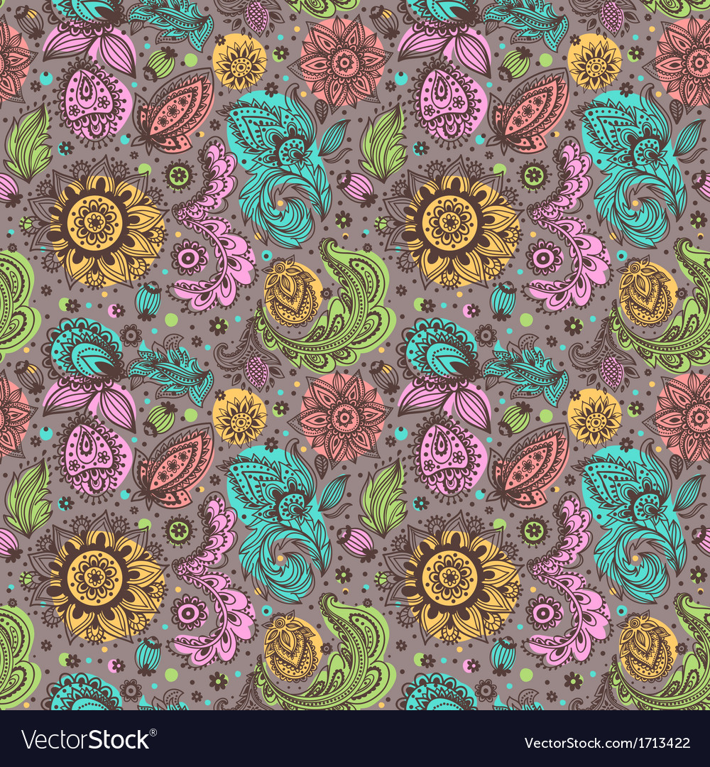 Beautiful floral pattern vector   Price: 1 Credit (USD $1)