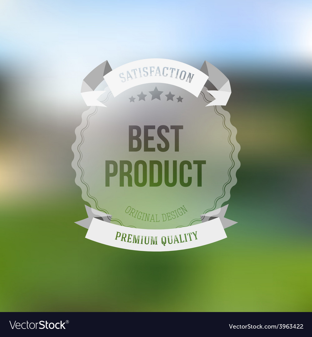 Best product sticker isolated on blurred vector | Price: 1 Credit (USD $1)