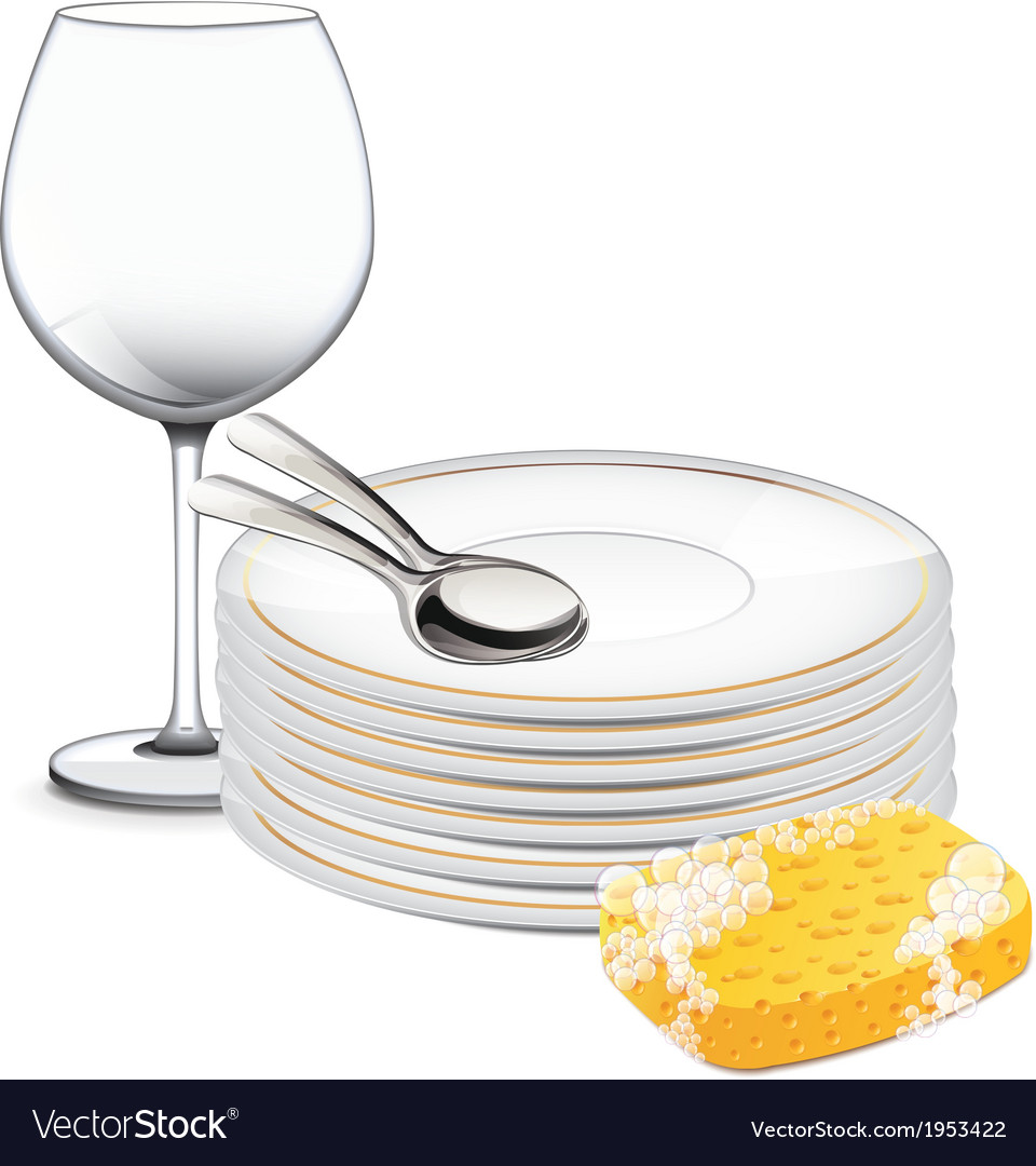 Clean dishes vector | Price: 1 Credit (USD $1)