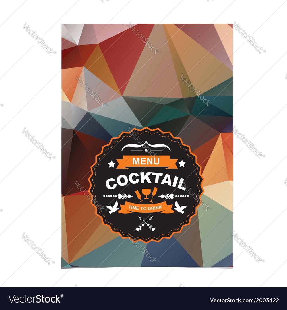 Cocktail bar menu template design vector   Price: 1 Credit (USD $1)