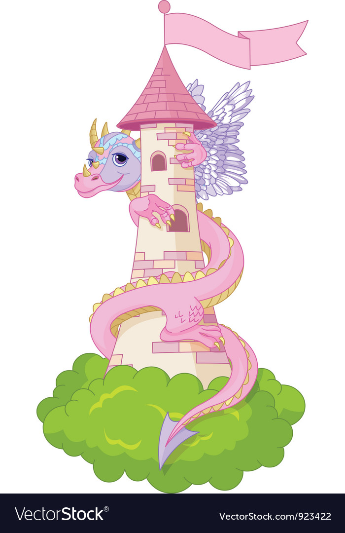 Dragon tower vector | Price: 3 Credit (USD $3)