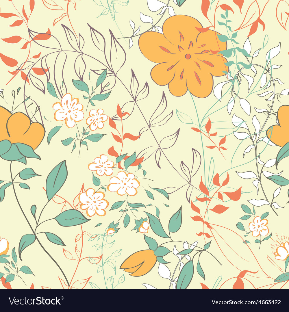 Floral seamles pattern vector | Price: 1 Credit (USD $1)