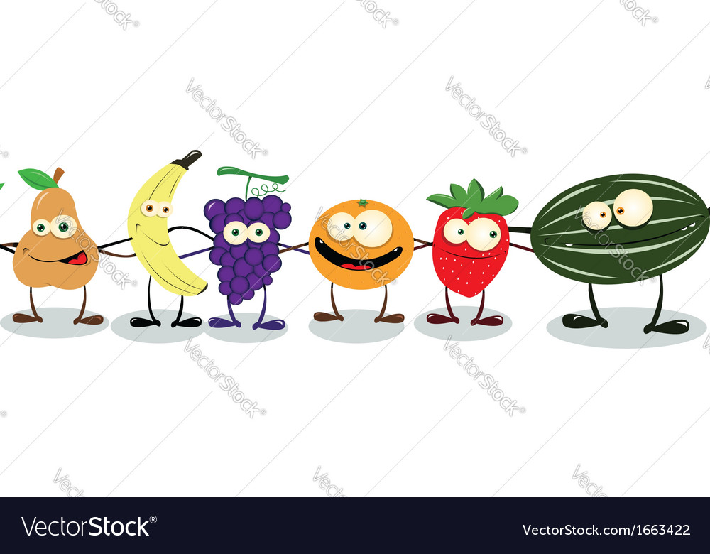 Fruit hug vector | Price: 1 Credit (USD $1)