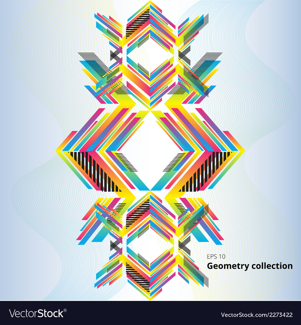 Geometry abstract pattern vector | Price: 1 Credit (USD $1)