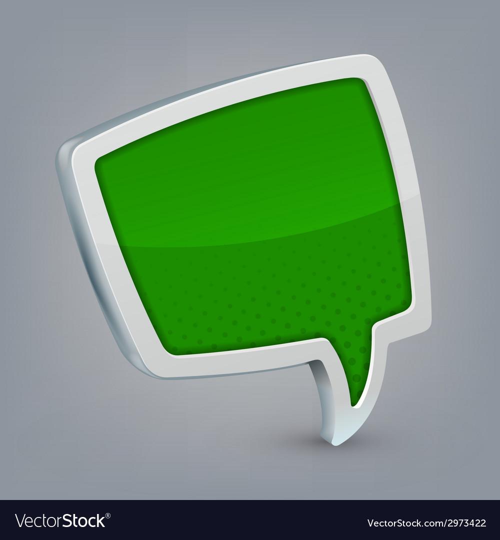 Green cloud speech vector | Price: 1 Credit (USD $1)
