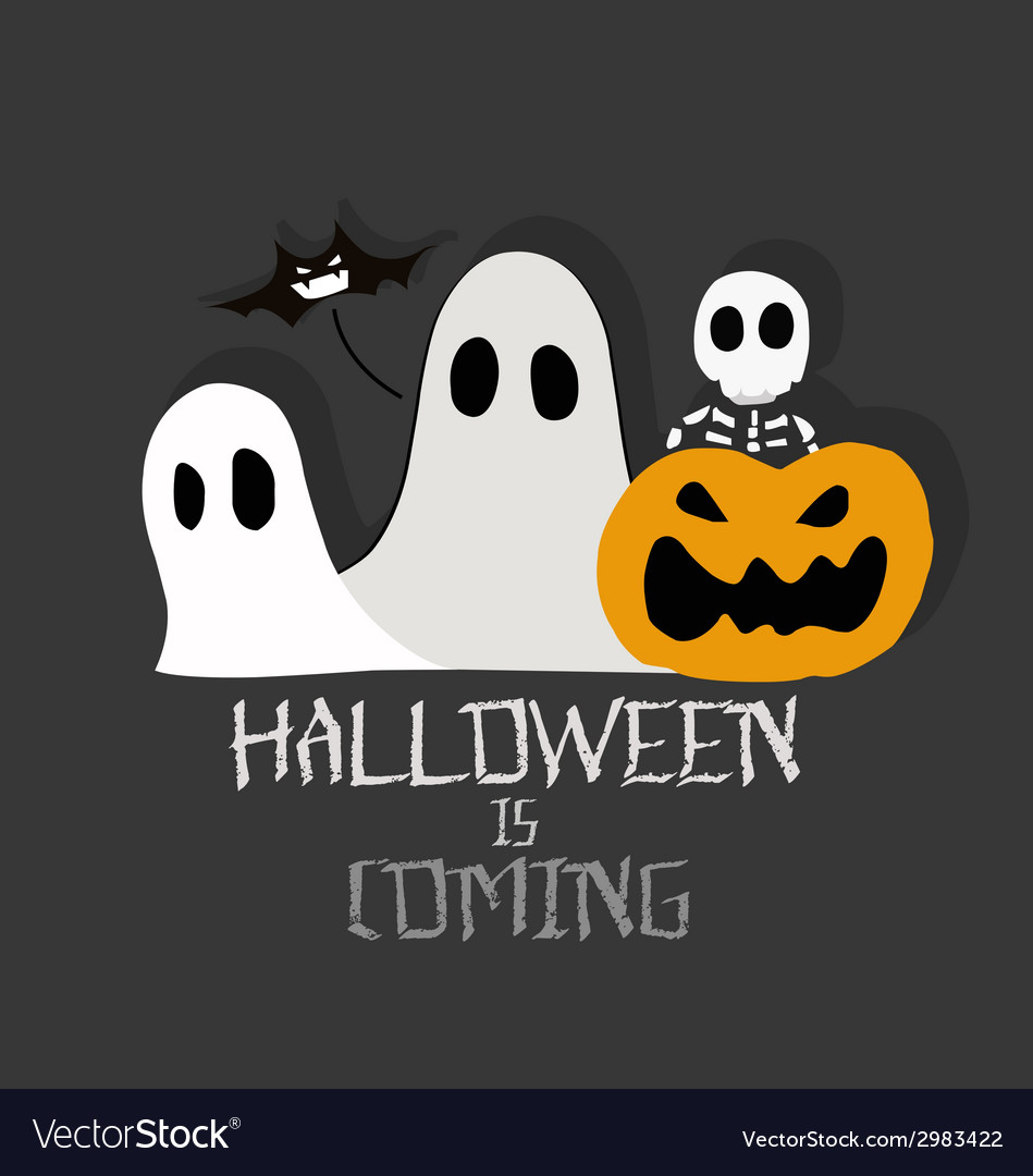 Halloween is coming vector | Price: 1 Credit (USD $1)
