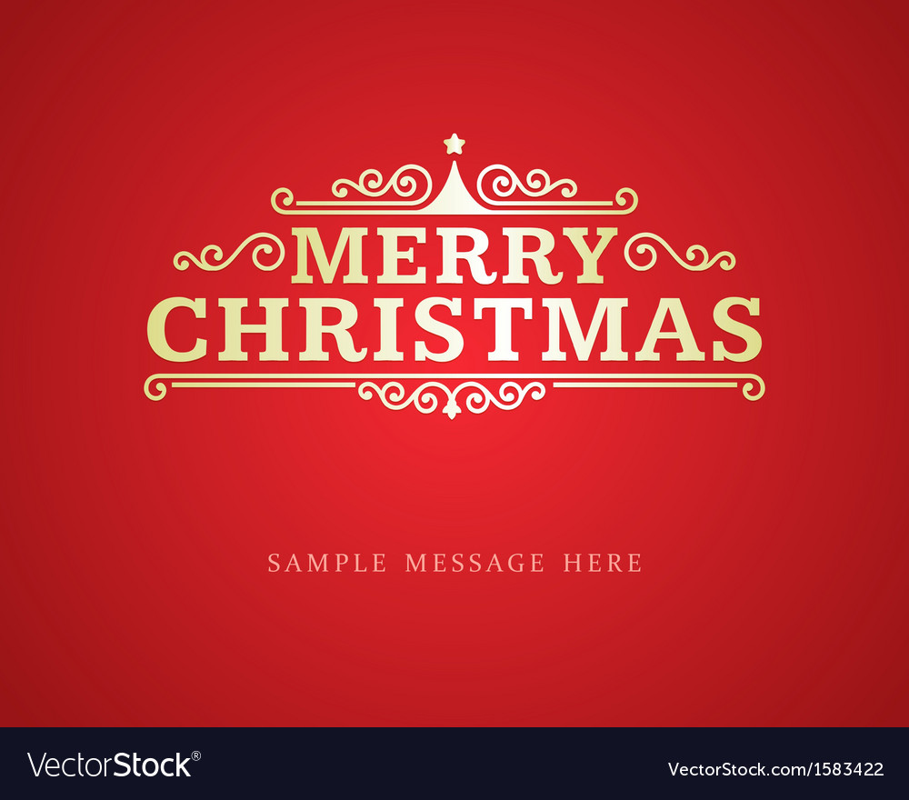 Merry christmas message and ornament decoration vector | Price: 1 Credit (USD $1)