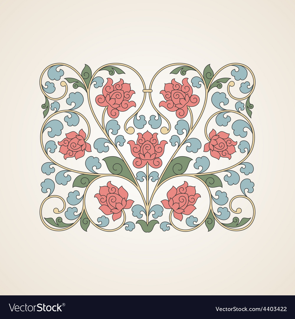 Ornamental floral element for design in china vector | Price: 1 Credit (USD $1)