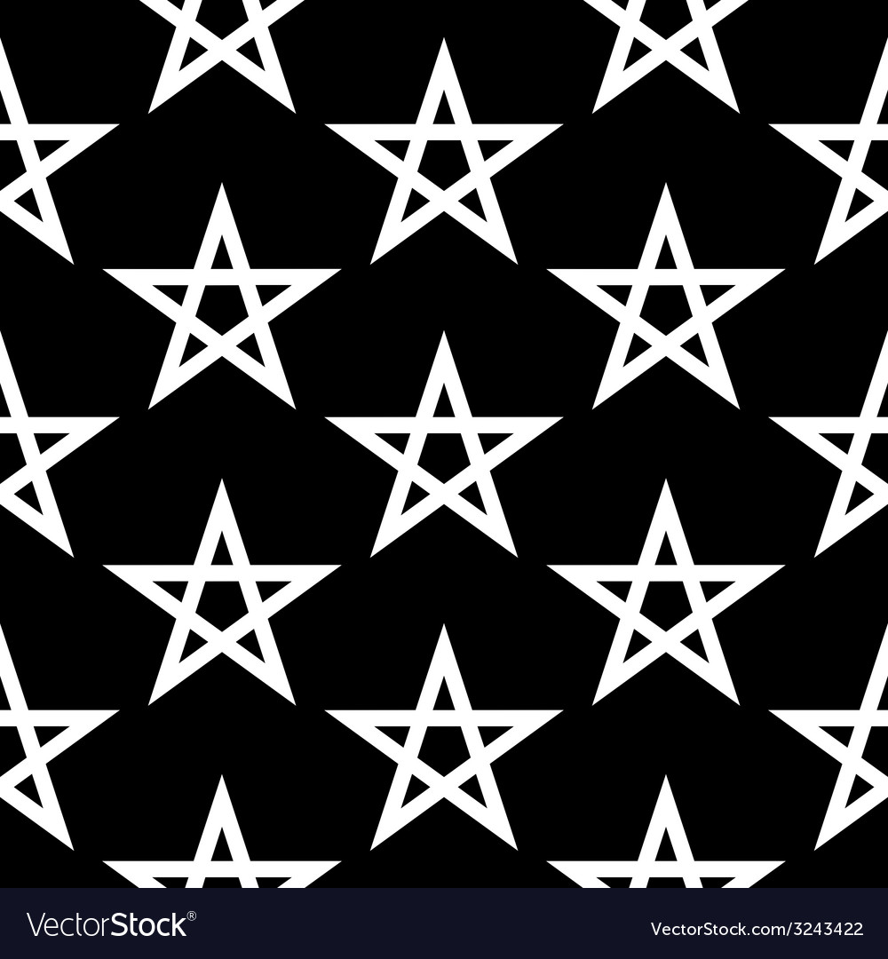 Pentagram button seamless pattern vector | Price: 1 Credit (USD $1)