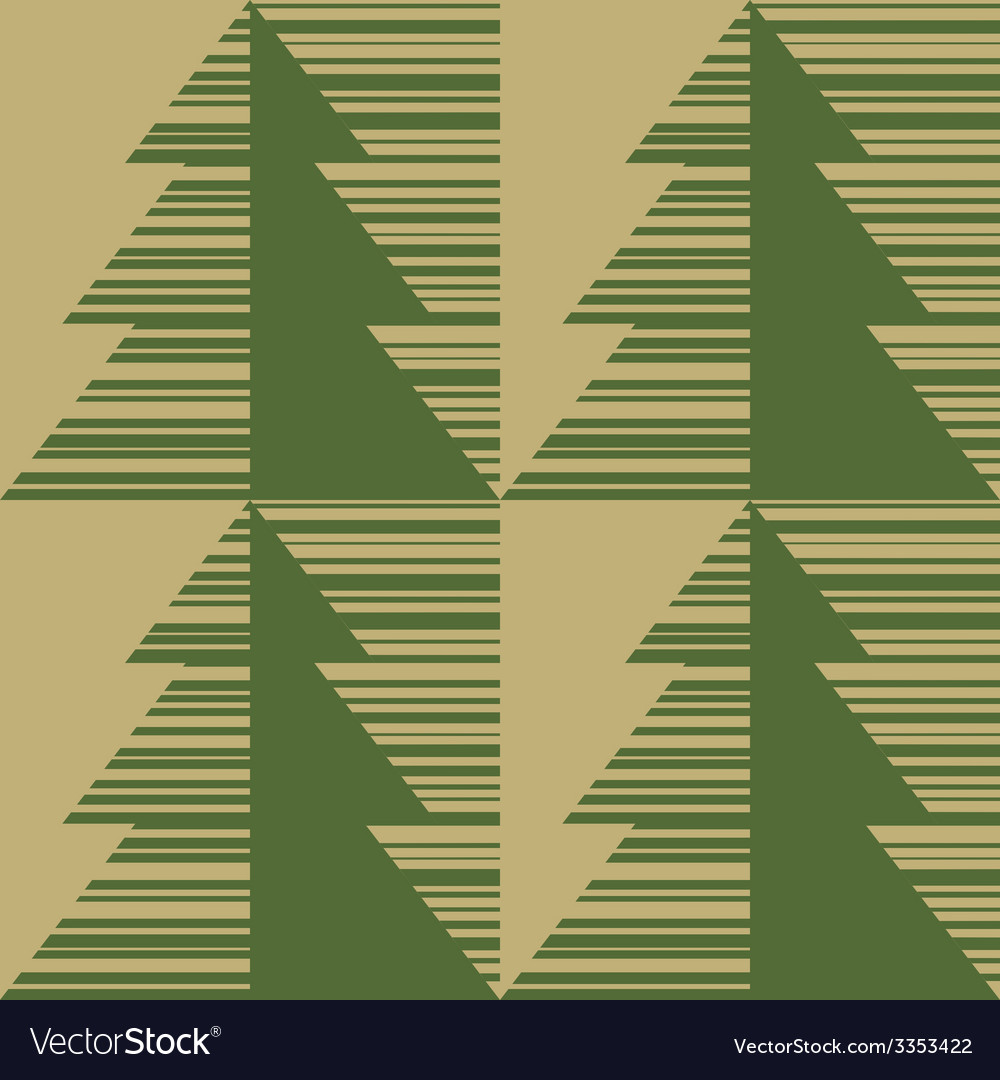 Printed fir tree on a brown paper vector | Price: 1 Credit (USD $1)