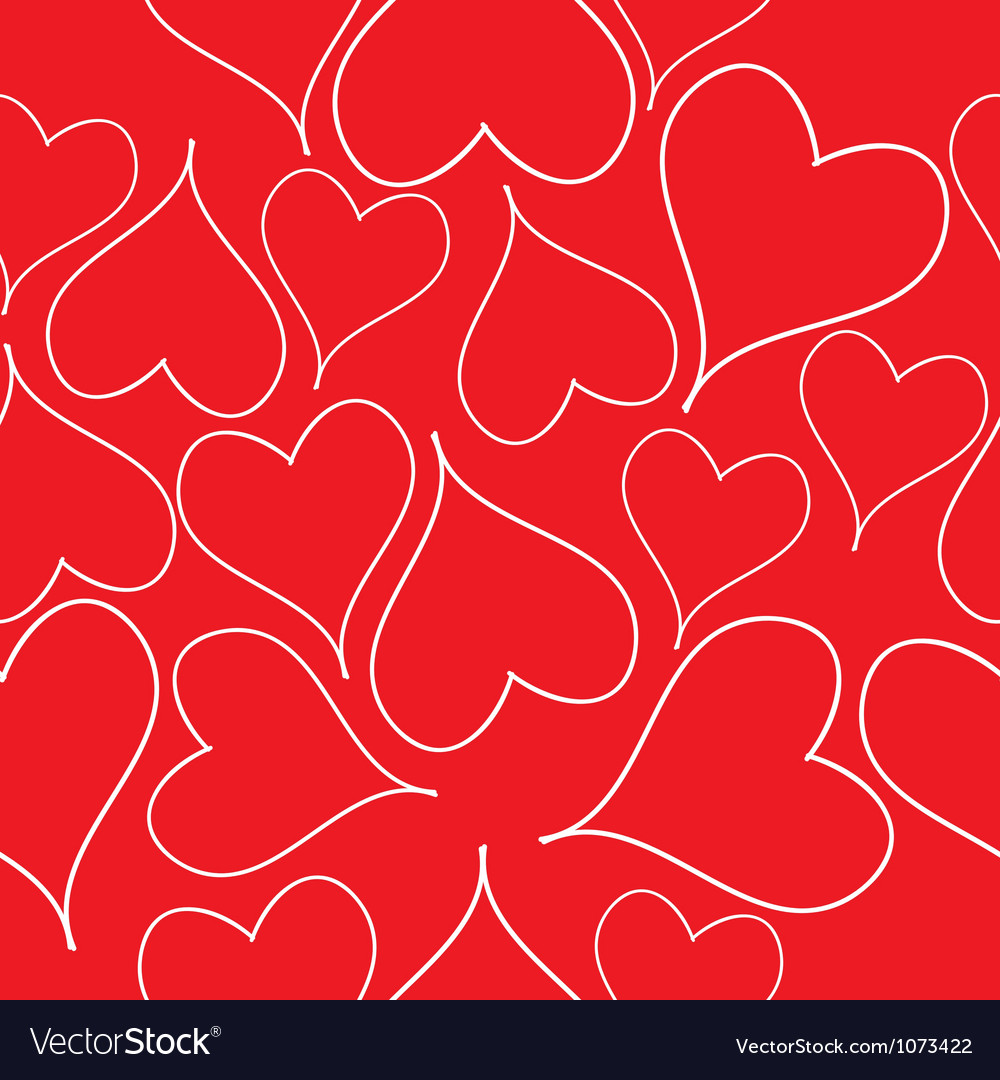 Seamless pattern with read hearts vector | Price: 1 Credit (USD $1)