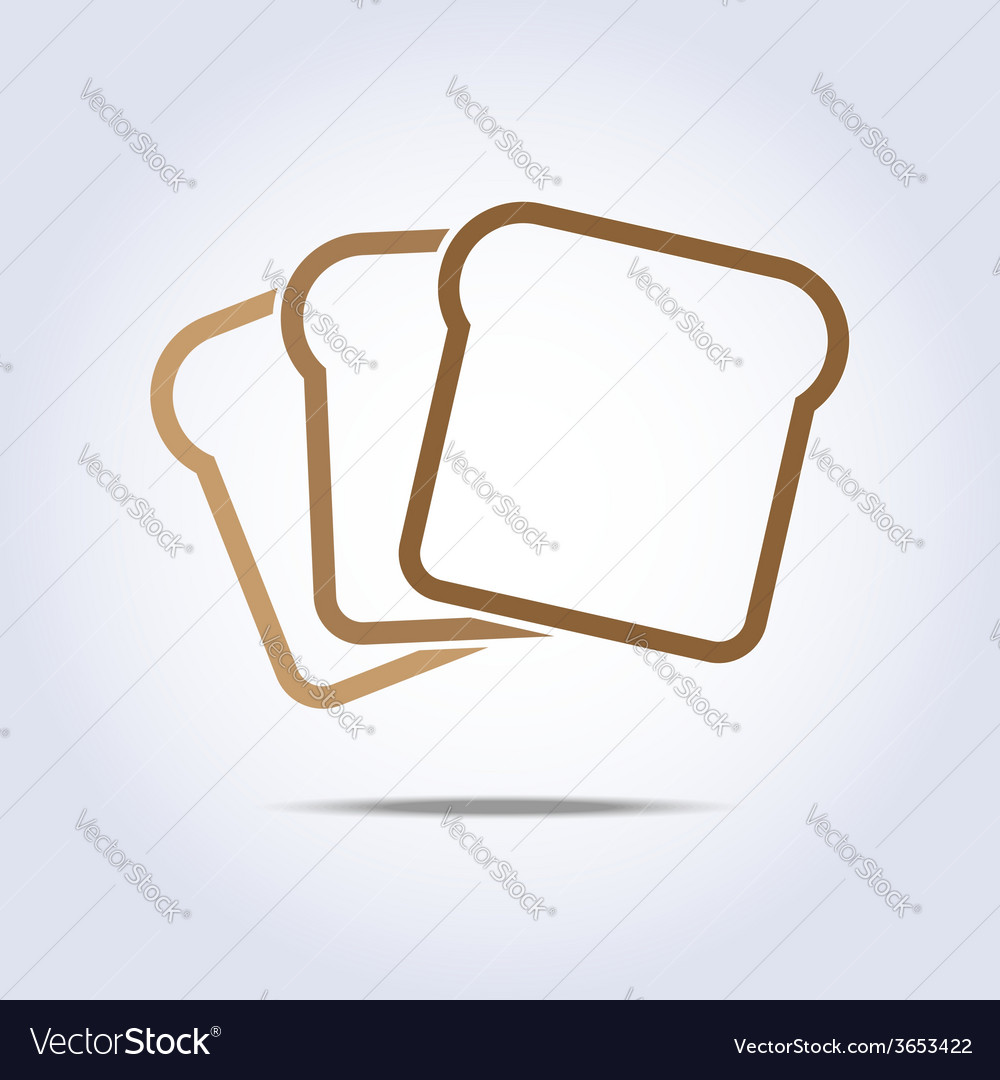Toast icon vector | Price: 1 Credit (USD $1)