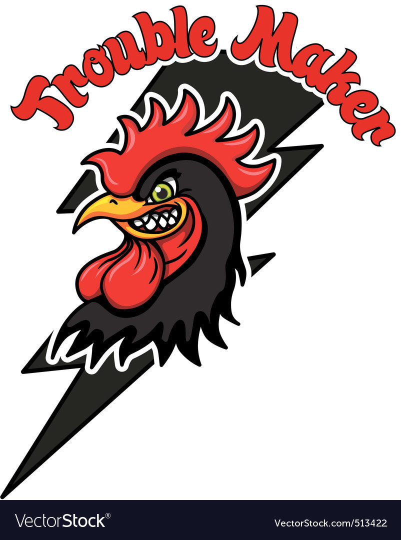 Trouble rooster vector | Price: 1 Credit (USD $1)