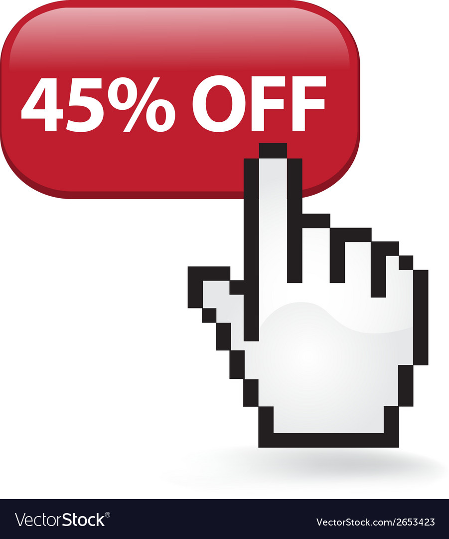 45 off button vector | Price: 1 Credit (USD $1)