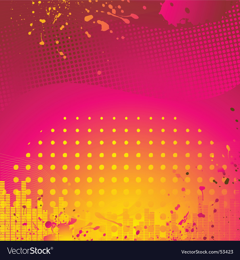 Abstract pink and orange background vector | Price: 1 Credit (USD $1)