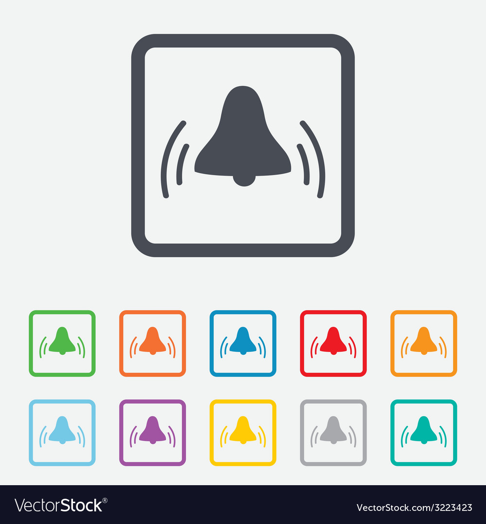 Alarm bell sign icon wake up alarm symbol vector | Price: 1 Credit (USD $1)