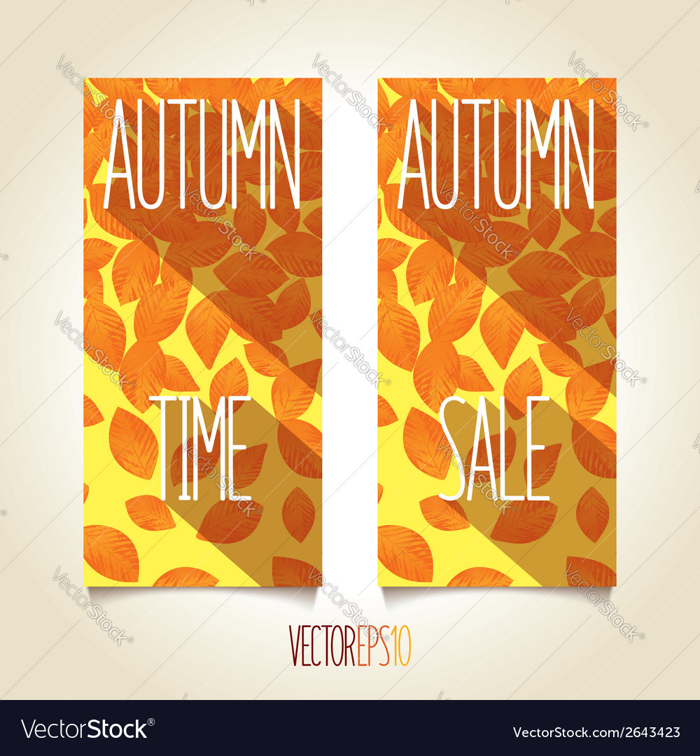 Autumn flat sunny banner vector | Price: 1 Credit (USD $1)