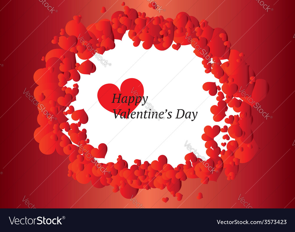 Beautiful valentines day frame vector | Price: 1 Credit (USD $1)