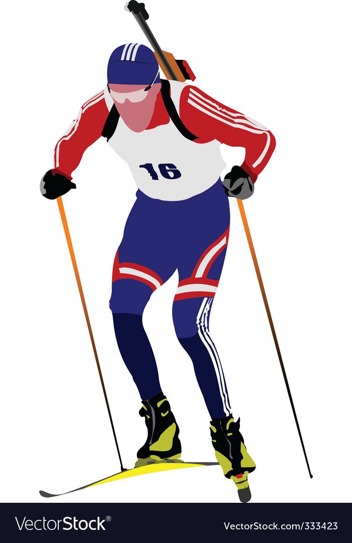 Biathlon skier vector   Price: 1 Credit (USD $1)