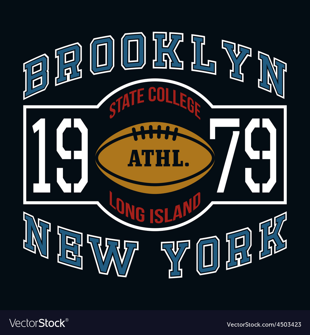 Brooklyn state college t-shirt typography graphics vector | Price: 1 Credit (USD $1)