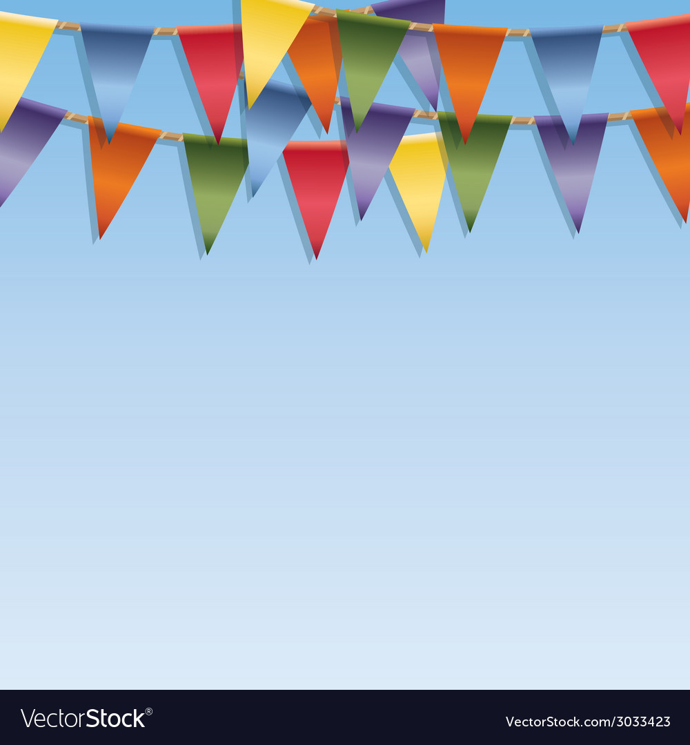 Bunting decoration vector | Price: 1 Credit (USD $1)