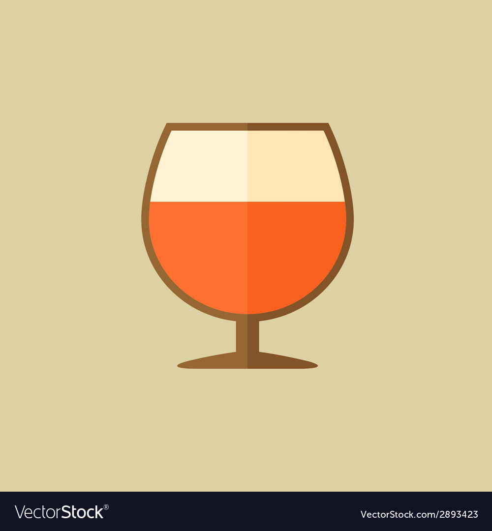 Cognac food flat icon vector | Price: 1 Credit (USD $1)