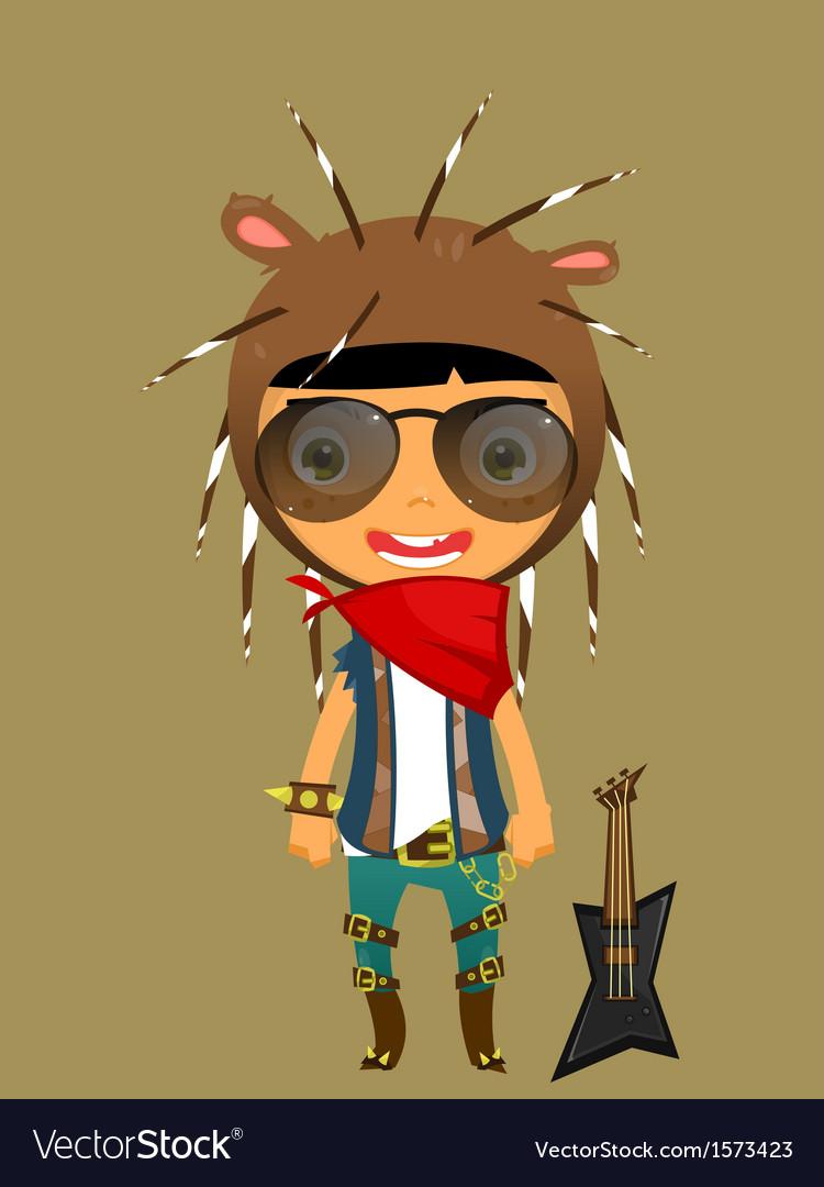 Cute boy porcupine vector | Price: 1 Credit (USD $1)