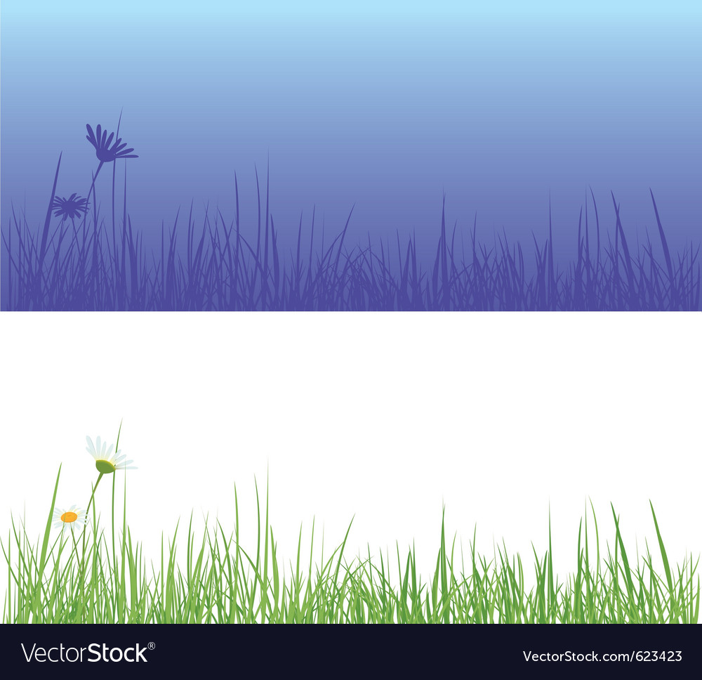Field grass day and night vector | Price: 1 Credit (USD $1)