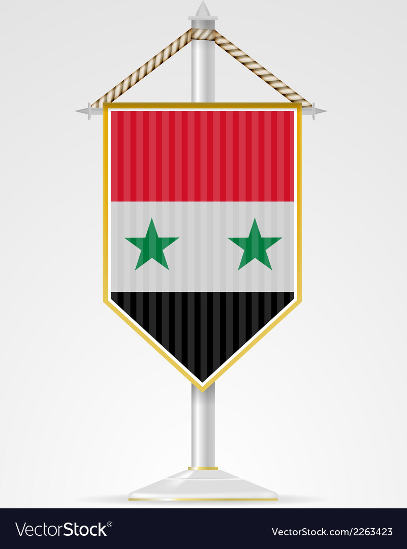 National symbols of asian countries syria vector | Price: 1 Credit (USD $1)