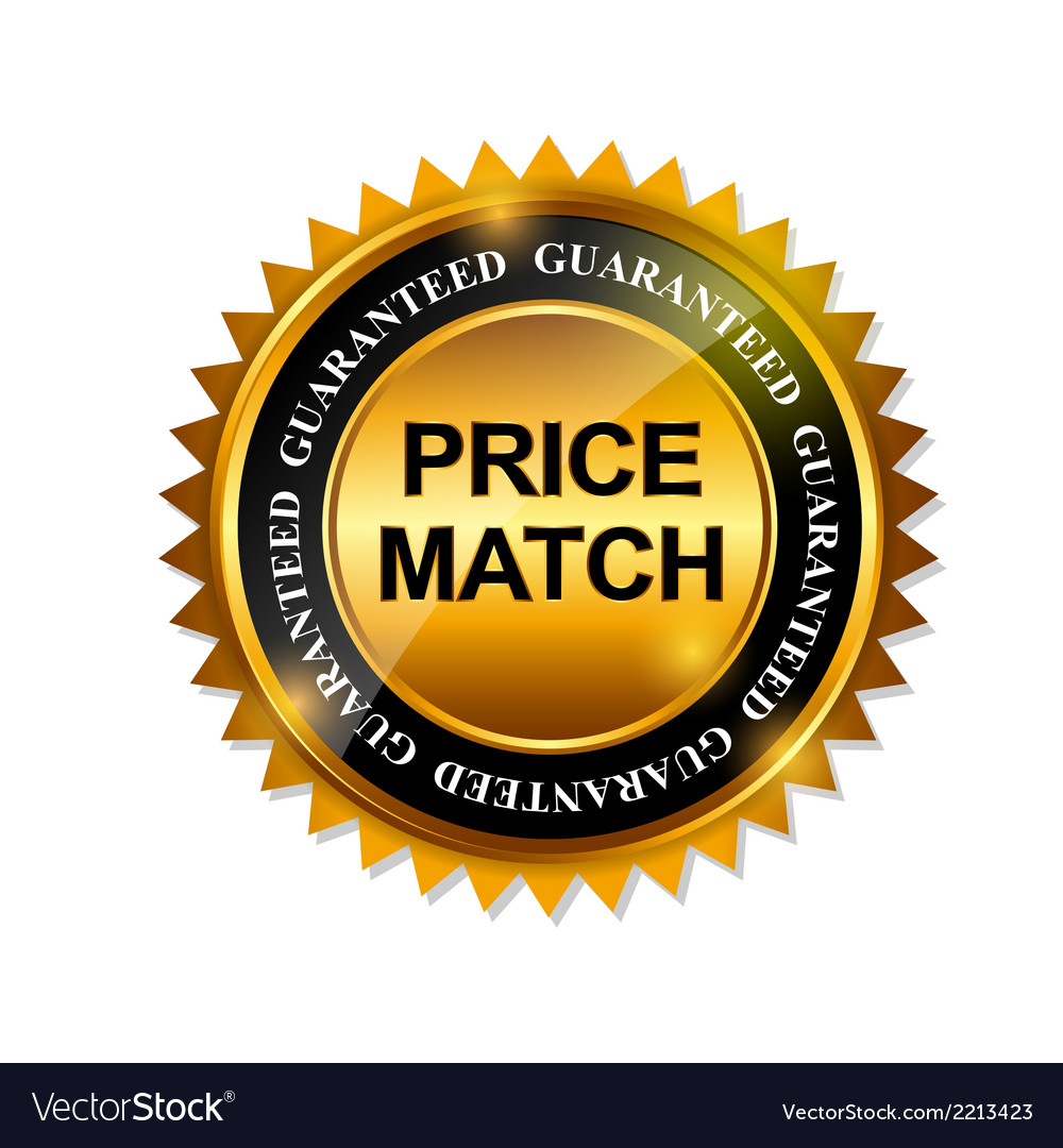 Price match guarantee gold label sign template vector | Price: 1 Credit (USD $1)